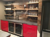 Winter Park, Red Acrylic High Gloss Wet Bar 01