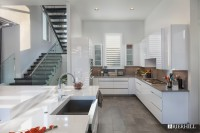 Windermere, Contemporary Kitchen Waterfall Island 02