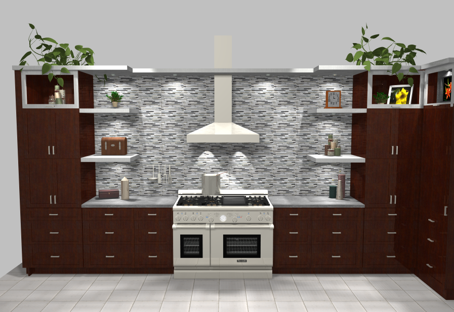 NSH Kitchen Range Wall Render